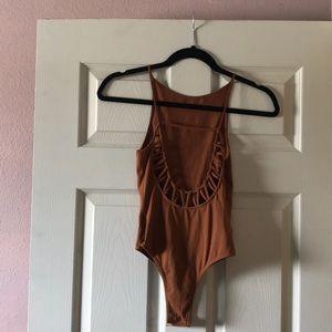 Rust Orange open back bodysuit (L.A.HEARTS) XS